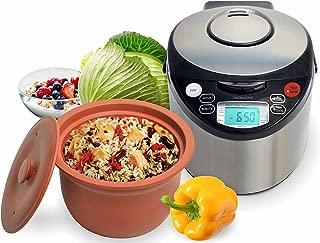 VitaClay VM7900-6 Smart Organic Multi-Cooker- A Rice Cooker, Slow Cooker, Digital Steamer plus bonus Yogurt Maker, 6 Cup/3.2-Quart