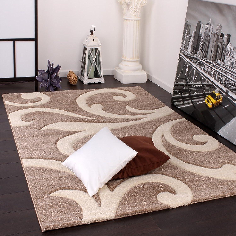 Paco Home Designer Teppich mit Konturenschnitt Konturenschnitt Konturenschnitt Modern Beige Creme, Grösse 120x170 cm B00BGMKJLQ 473c25
