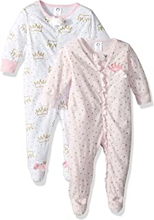GERBER Baby Girls' 2-Pack Sleep 'N Play, Princess Crown, 3-6 Months