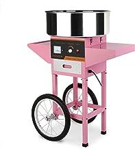 SucceBuy Machine à Barbe à Papa avec Chariot Cotton Candy Machine Commerciale avec Support