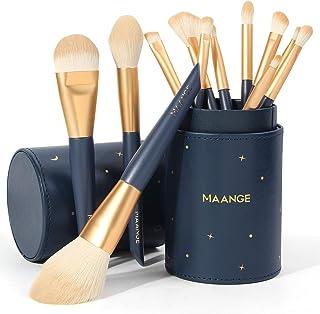 MAANGE Makeup Brushes 12 Pcs Professional Synthetic Makeup Brush Set With Holder Foundation Contour Powder Concealer Eye Shadow Make Up Brush