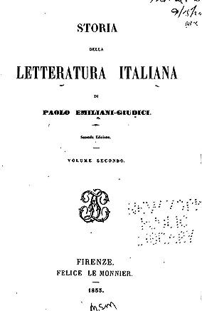 Storia Della Letteratura Italiana - Volume Secondo
