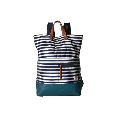 Nautica Mainlander Backpack (Indigo/Bone Stripe) Backpack Bags
