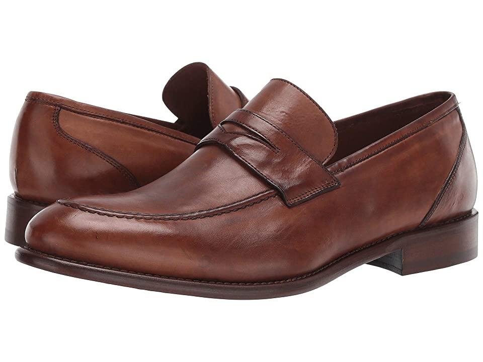 1940s Mens Shoes | Gangster, Spectator, Black and White Shoes JM EST. 1850 Bryson Penny Cognac Mens Shoes $285.00 AT vintagedancer.com