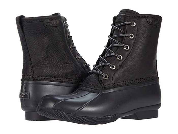 Vintage Boots- Winter Rain and Snow Boots History Sperry Saltwater Duck BlackBlack Shoes $69.00 AT vintagedancer.com