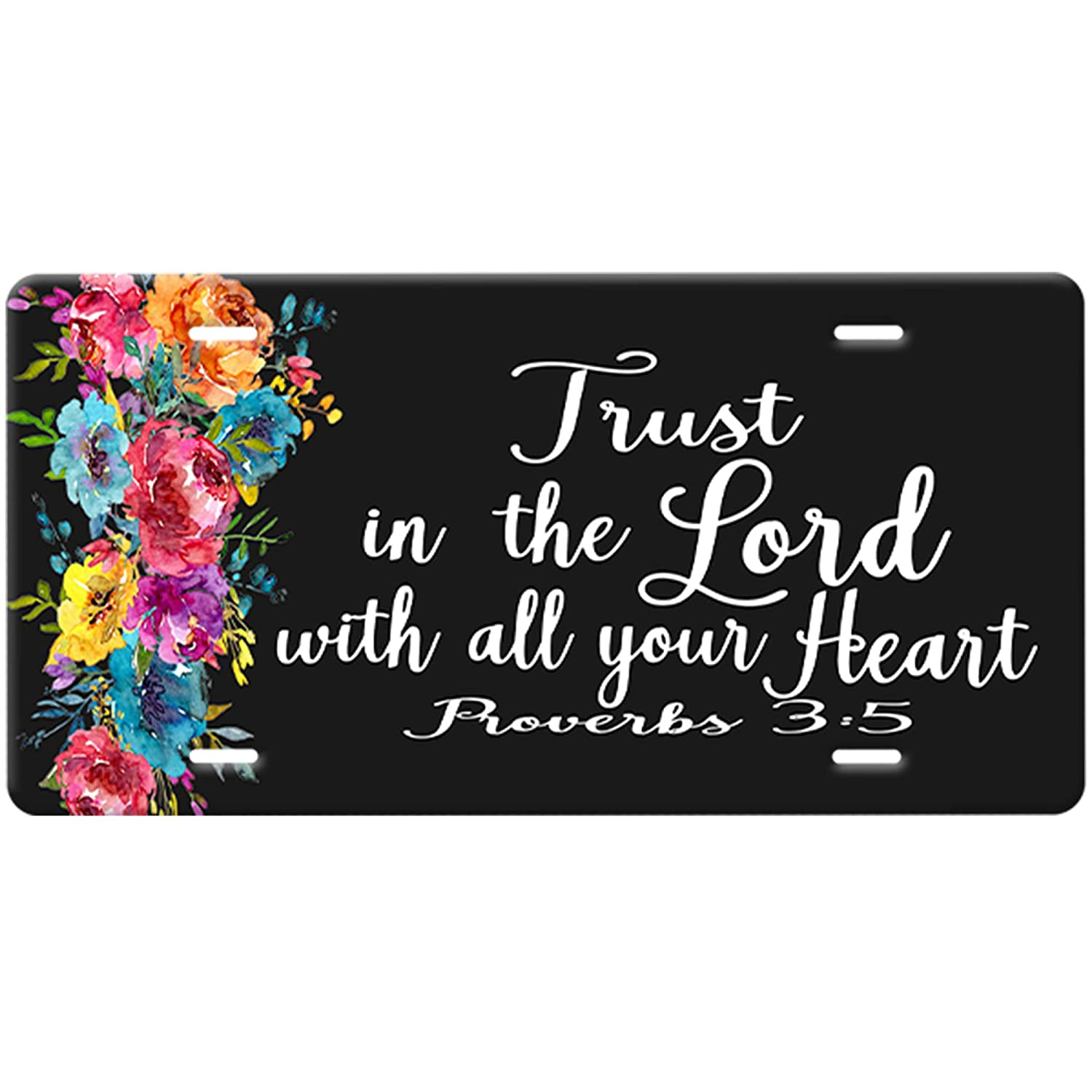 Proverbs 3:5-Trust In OFFer The Lord Plate-White Christian License Quo Popularity