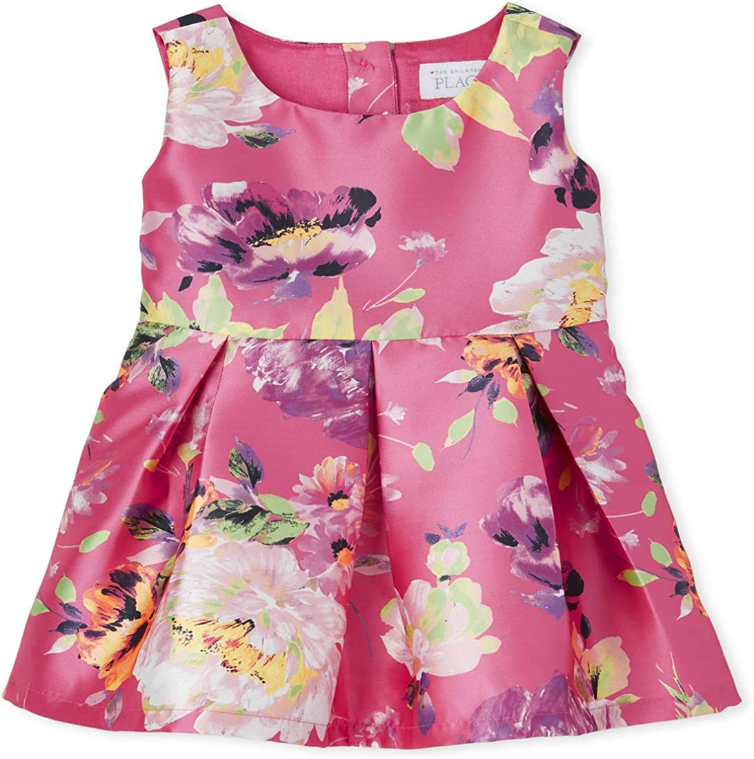 The Children's Place Girls' Short Sleeve Floral Print Dress