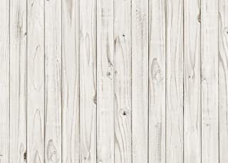 LYWYGG White Wood Floor Pattern Photography Backdrop 5x7ft Vinyl Photography Background Studio Props CP-177