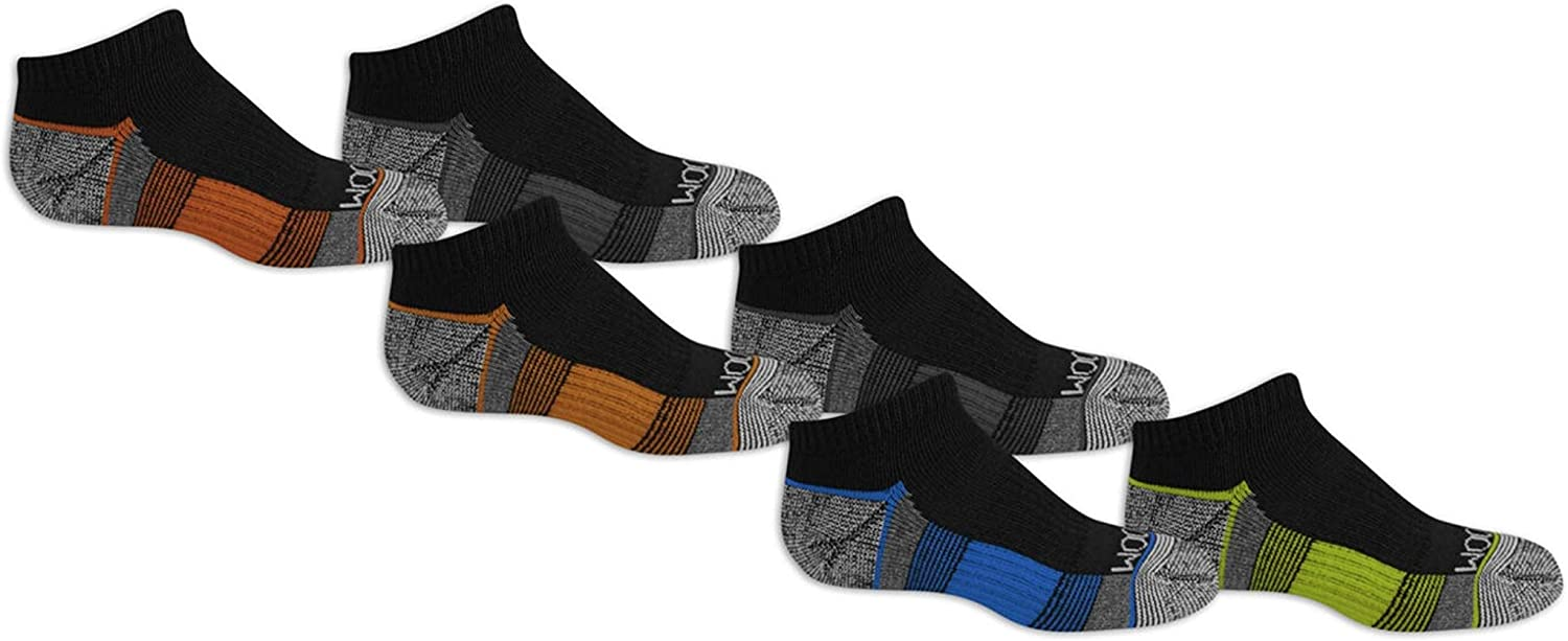 Fruit Of The Loom Girls 6 Pair Everyday Active Lightweight No Show Socks