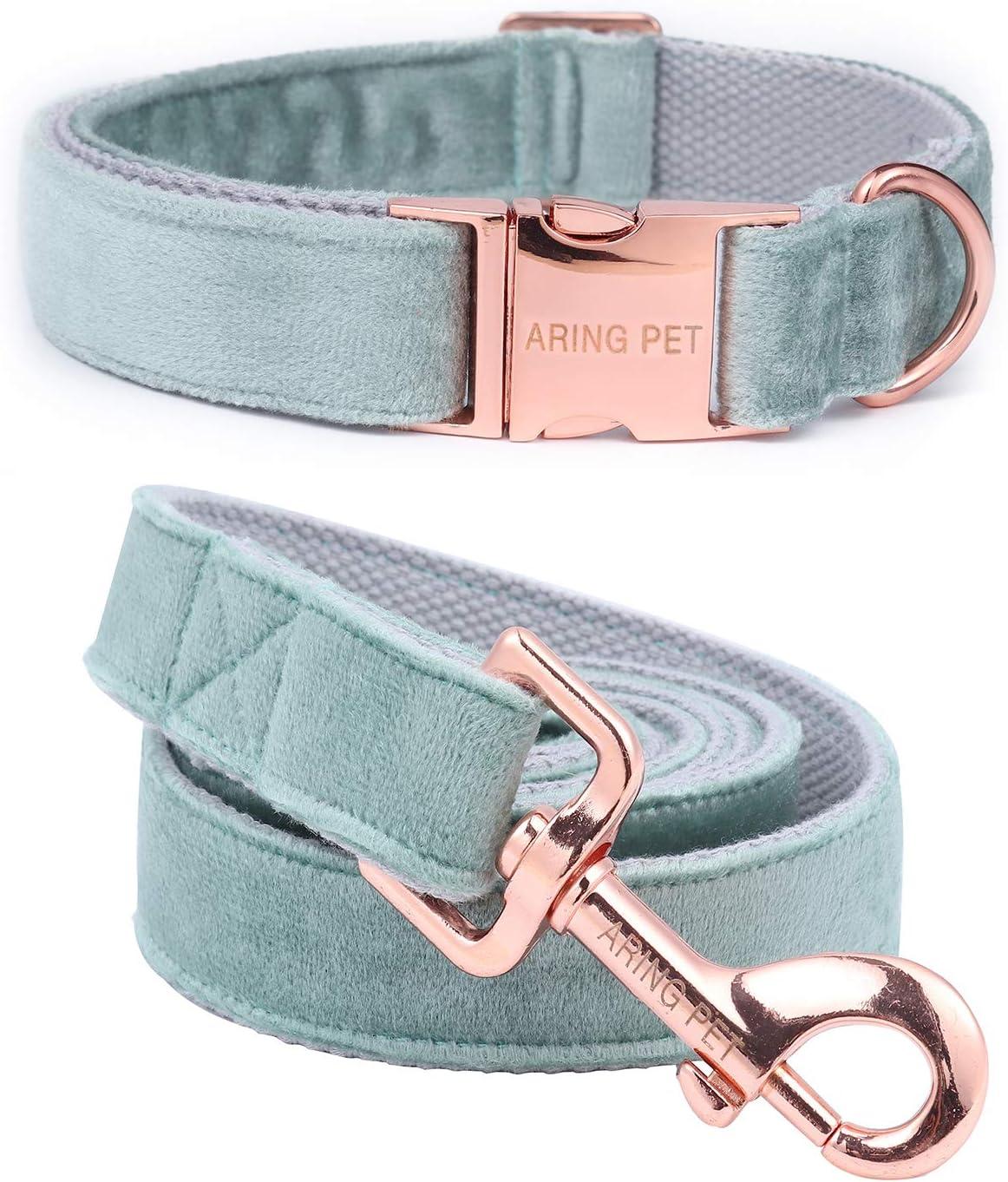 ARING Large-scale sale PET Dog Collar Arlington Mall Velvet Leash Set and