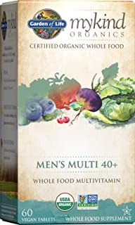 Garden of Life mykind Organics Whole Food Multivitamin for Men 40+, 60 Tablets, Vegan Mens Multi for Health, Well-being Ce...
