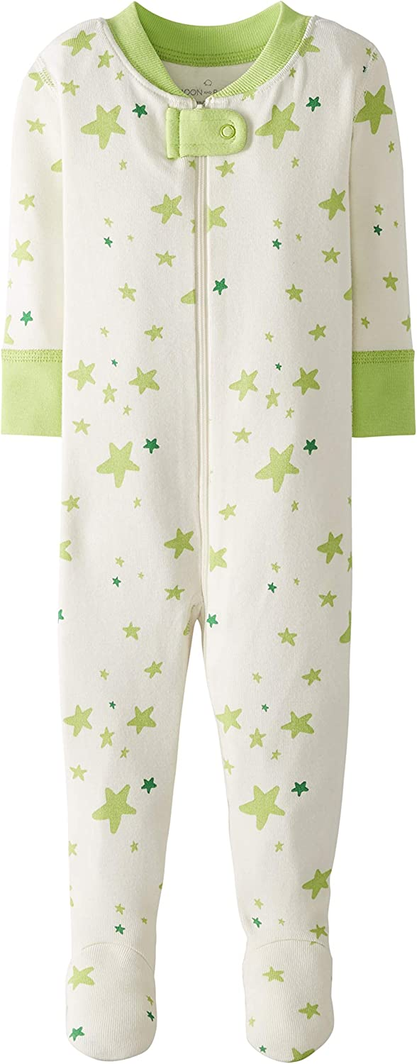 Infant-and-Toddler-Sleepers Mixte b/éb/é Moon and Back by Hanna Andersson Pyjama Une Pi/èce