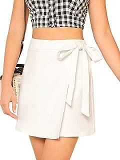 white overlap skirt