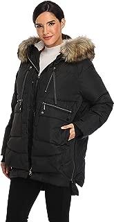 Emperor Goose Women's Down Jacket Hooded Colorblock Puffer Parka Winter Down Coat