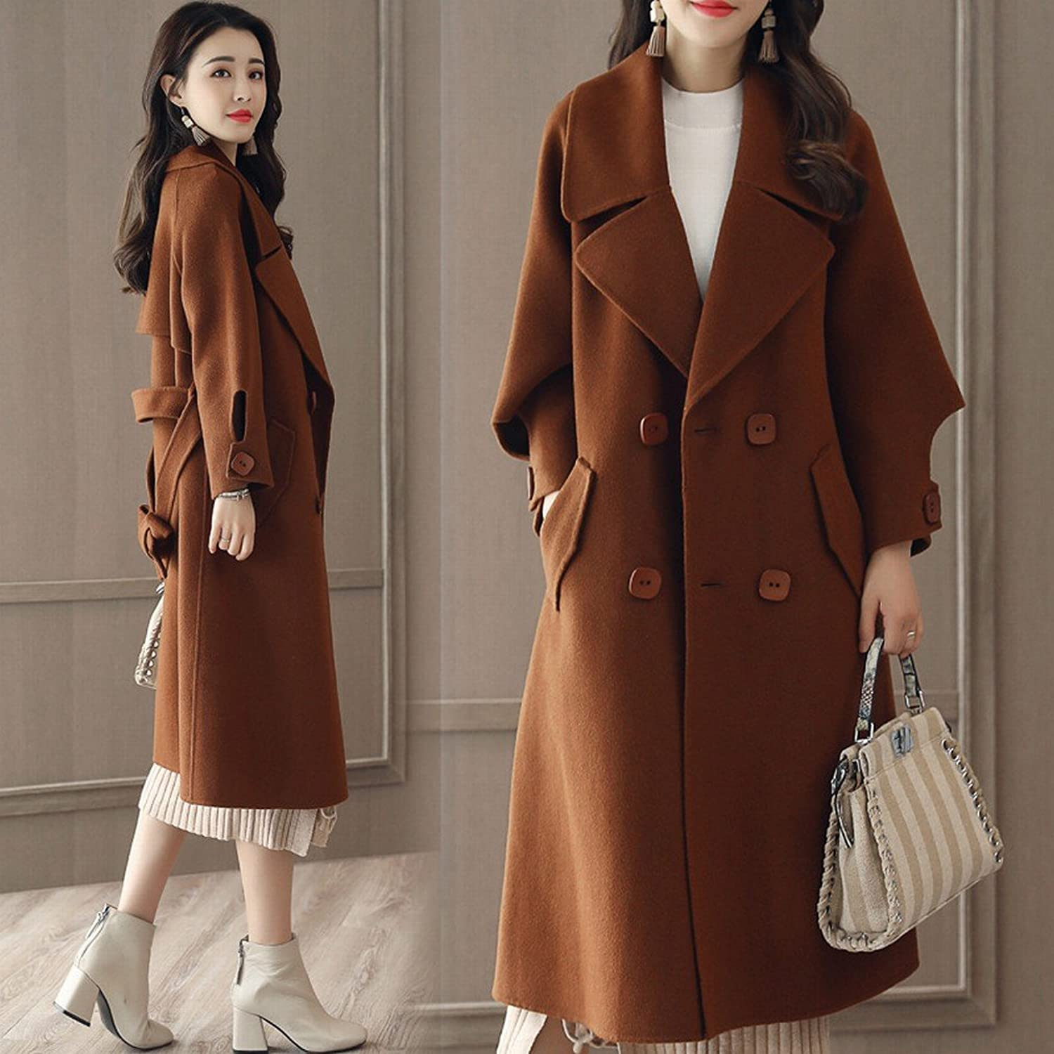 LD It Coat a Long Section of Women Fashion Autumn and Winter Loose Thin Coat