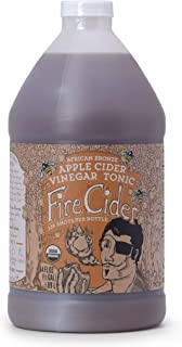Fire Cider, 64 oz(Half Gallon), African Bronze Flavor, Apple Cider Vinegar Tonic, Pure & Raw, All Certified Organic Ingredients, Not Heat Processed, Not Pasteurized, Paleo, Keto, Whole 30, 128 Shots.