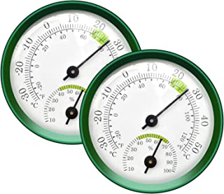 Tentop 2-Pack Mini Thermometer Indoor and Humidity Gauge – Small Thermometer Hygrometer Analog Temperature Monitor for Hom...