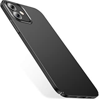 CASEKOO Slim Fit Compatible with iPhone 12 Case, iPhone 12 Pro Case 6.1 inch, [Ultra Thin] Silky Soft Touch Hard PC Matte Finish Grip Protective Phone Cover for iPhone 12/12 Pro 5G (2020) -Black
