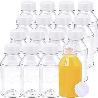 عبوة من 16 زجاجات عصير بلاستيكية فارغة سعة 118 مل من أنيكو، حاويات مشروبات قابلة لإعادة الاستخدام مع أغطية مثالية لتخزين ا...