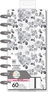 The Happy Planner Classic Half Sheet Notebook - Black & White Floral - 60 Sheets of Lined Paper - For Journaling, Making Lists, Staying Organized, Taking Notes & Doodling - Classic Size