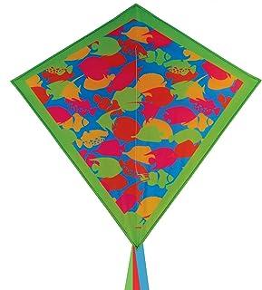 "In the Breeze 3266 - Tropical Fish Camo 30"" Diamond Kite - Fun, Easy Flying Camo Kite"