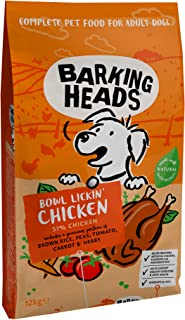 Barking Heads Dry Dog Food - Bowl Lickin' Chicken - 100% Natural Chicken with No Artificial Flavours, Good for Healthy Dig...