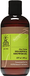 Desert Harvest Aloe-Herbal Shampoo & Shower Gel 8 oz - moisturizing, hydrating for dry itchy skin & scalp, dandruff, eczem...