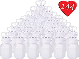 Double Heart Bubbles, Birthday Party Favor Bulk Pack of 144 Bottles, Party Favor Supplies, Great for Weddings, Celebrations, and Anniversaries, By 4E's Novelty