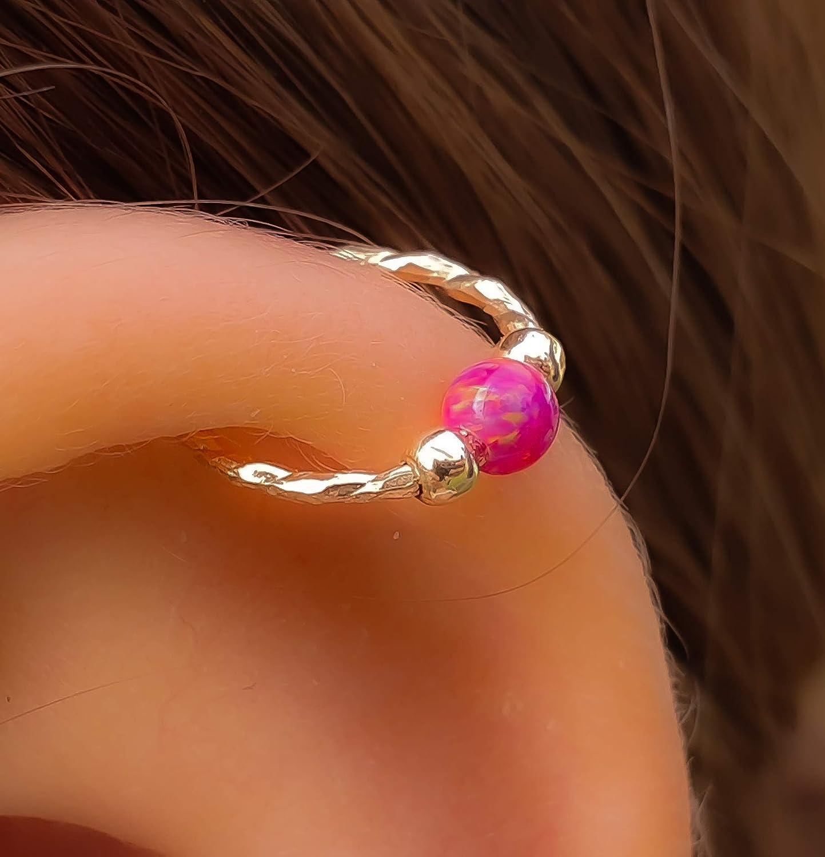 purple Opal Helix Piercing Over Award item handling ☆ Earring - Gold E Cartilage Filled 14k