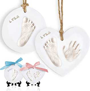 Baby Handprint Footprint Ornament Keepsake Kit - Newborn Imprint Ornament Kit for Baby Girl, Boy - Personalized New Baby G...