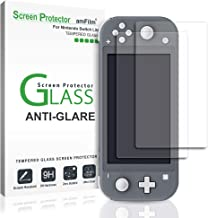 amFilm Anti-Glare Glass Screen Protector for Nintendo Switch Lite (2019) (2 Pack) (Matte)