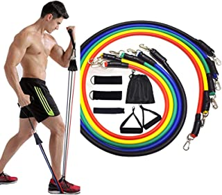 11Pcs Resistance Bands Set - Portable Home Gym Accessories - Fitness Bands with Handles for Women & Men