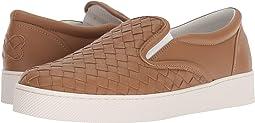 Intrecciato Leather Skate Sneaker
