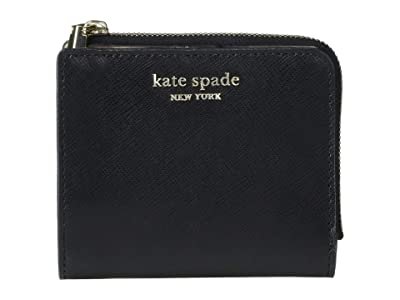 Kate Spade New York Spencer Small Bifold Wallet (Black) Wallet