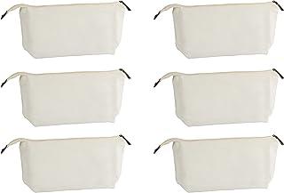 White Travel Makeup Bag for Women (6 Pack)