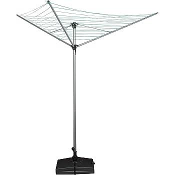 Lifetime Clean Tendedero giratorio vertical acero 3 brazos maxi 40 m jardín exterior: Amazon.es: Hogar