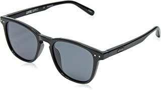 Local Supply Men's CITY Polarized Sunglasses - Dark Grey Tint Lens, Gloss Black Frames