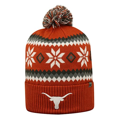 9c9f90c65ef Texas Longhorns Official NCAA Fogbow Cuffed Knit Beanie Stocking Hat Cap  253361