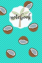 Notebook: Funny Coconut Palmtree Design Summer Feeling, 110 lined pages, 6x9