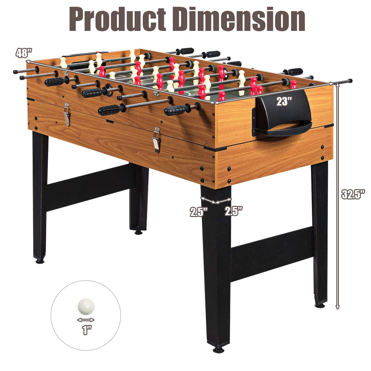 Giantex 48″ 3 in 1 Game Table