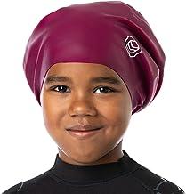 Large, Rose Cocher Afro Happy Mane Premium Large Bonnet de Bain en Silicone pour Dreadlocks /à Poils Longs Tissage Tresses Extension de Cheveux