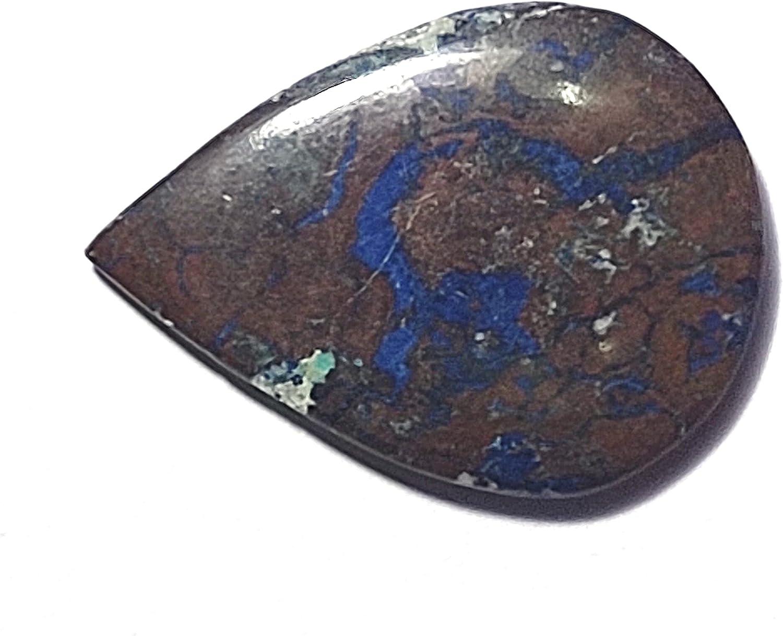 17.92 Carats TCW 100% Natural Cabochon Superlatite Limited time cheap sale Ge Pear Beautiful Azurite