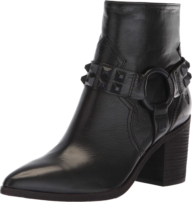 Frye Womens Flynn Deco Stud Harness Short Ankle Boot
