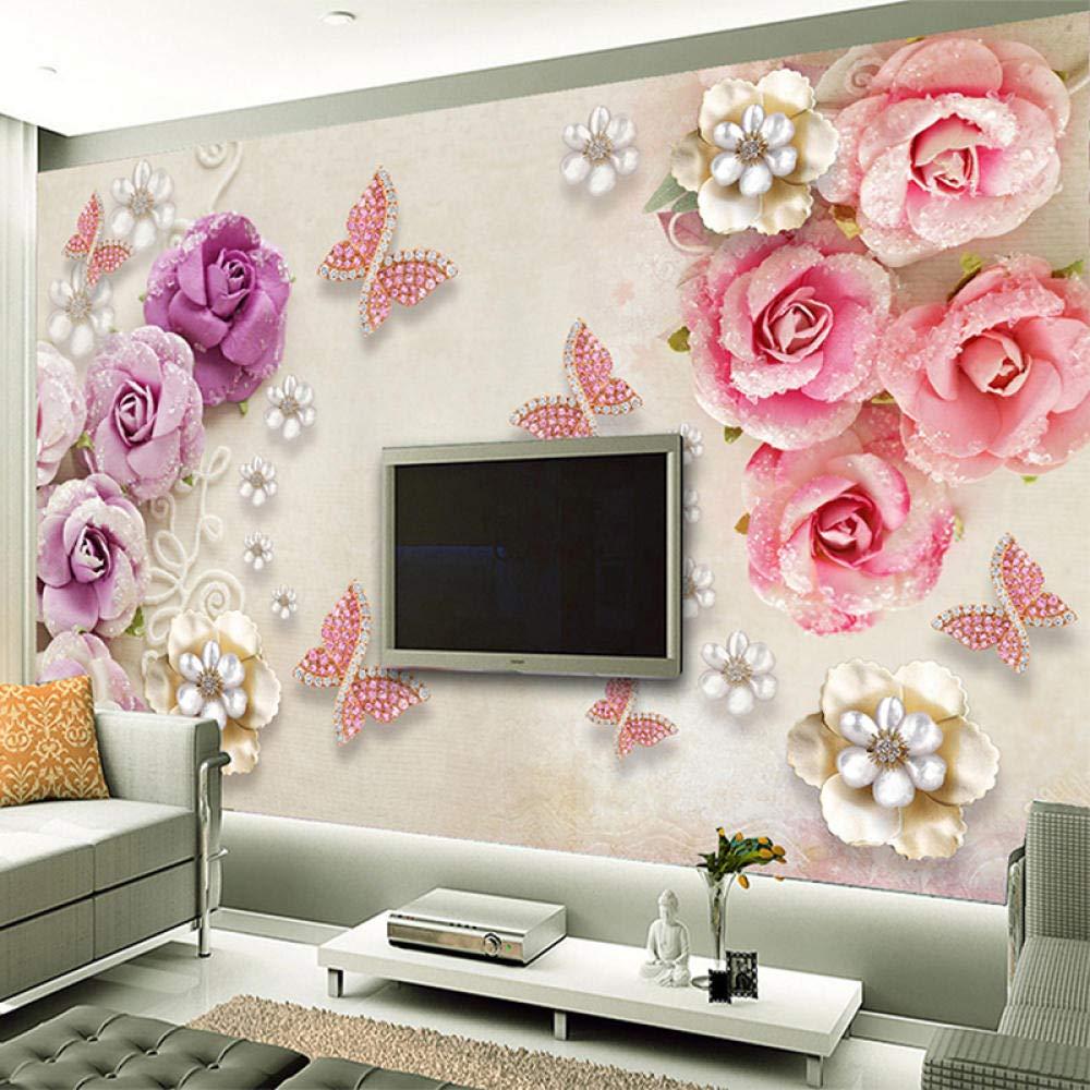 Awttmua Ranking TOP14 Photo Wallpaper for Walls discount Butterfly Flowe European Style