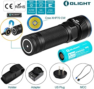 OLIGHT r50 pro Seeker le Police Tactical Flashlight Military Law Enforcement Patrol Light Cool White led 3200 lumens Rechargeable Weapon Light Holster 4500mAh Lithium Battery Patch