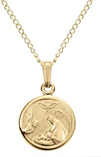 guardian angel pendant gold