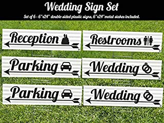 Best personalized wedding reception yard signs Reviews
