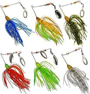 Kemilove 6pcs Fishing Hard Spinner Lure Spinnerbait Pike Bass
