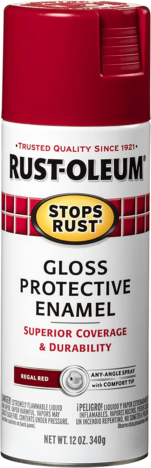 Rust-Oleum 7765830 Stops Rust Online limited product Spray Paint Re Gloss Regal New life Oz 12