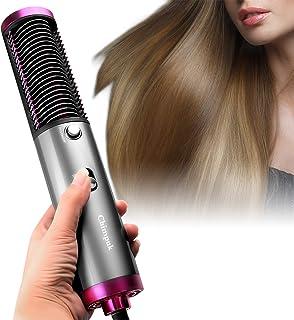 Cepillo para secador de pelo Chimpuk, cepillo de aire caliente 3 en 1, botón de calefacción, secador de pelo rápido PTC y plancha de pelo, cepillo de un solo paso, iones negativos anticongelante, anti-escaldaduras para todo tipo de cabello